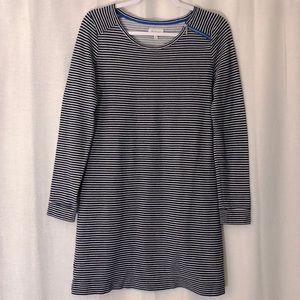 Lou & Grey Striped 3/4 Sleeve Tunic Top Size M